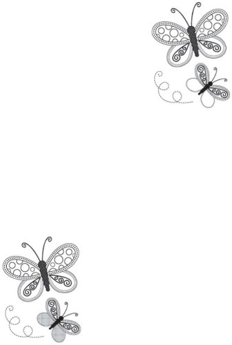 (Kaisercraft 3-Inch by 5-Inch Butterflies Mini Clear Stamps, Contains 5 Sheets)