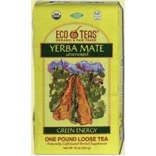 Eco Teas Organic Yerba Mate Unsmoked Loose Tea, 1 Pound -- 6 per case.