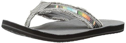 Sanuk Men's Fraid So Flip Flop, Charcoal Multi, 10 M US ()