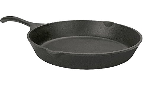 12-Inch Cast Iron Skillet Fixed Handle Never Becomes Loose And Oven Safe To 750-Degrees F