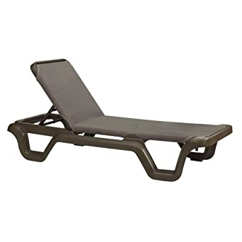 Amazoncom Grosfillex Marina Sling Chaise Lounge US515137 2