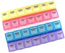 14 Day Pill Organizer (1 Compartment Per Day, 4 Week Monthly Medtime Planner by Apothecary)