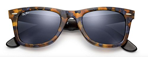 Ray-Ban Unisex RB2140F 1188R5 Sunglasses Original Classic Wayfarer Blue/ Black 52mm