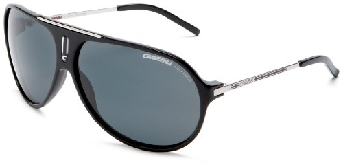 Carrera Hot Aviator Sunglasses,Black And Palladium Frame/Grey Lens,one size ()