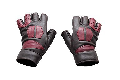 Miracle(Tm) Guardians of the Galaxy Vol 2 Star-Lord Leather Costume Gloves (Medium, Brown)