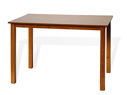 Dining Kitchen Rectangular Classic Table Solid Wooden in Maple Finish