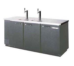 Beverage-Air DD78-1-B 79'' Black 4-Tap Draft Beer Dispenser by Beverage Air