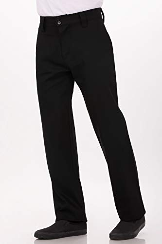 Chef Works Men's Essential Pro Chef Pants, Black, 36