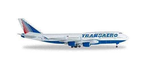 HE527651 Herpa Wings Transaero 747-400 1:500 Model Airplane