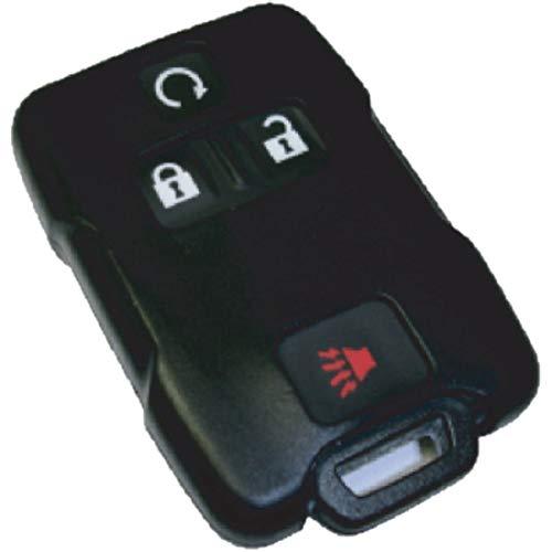 Black Silicon Key Fob Keyless Entry Remote Skin Cover Protector Fits: Chevrolet Silverado 2014 (Fob Patent Key Leather)