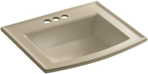 Mexican Sand Vessels (KOHLER K-2356-4-33 Archer Self-Rimming Bathroom Sink with 4-Inch Centers, Mexican Sand)