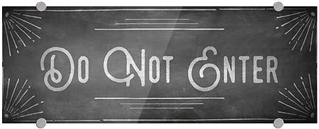 16x16 Do Not Enter CGSignLab Stripes White Premium Acrylic Sign