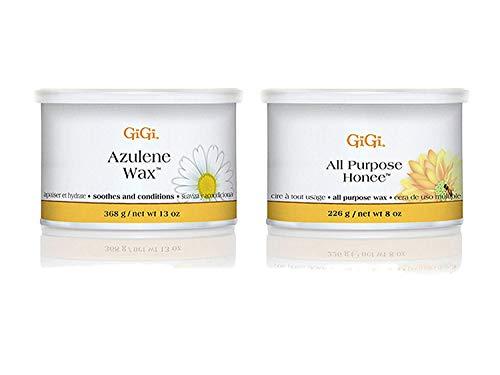 Gigi 14 oz. All Purpose Honee and Gigi 13 oz. Azulene Wax bundled by Maven Gifts