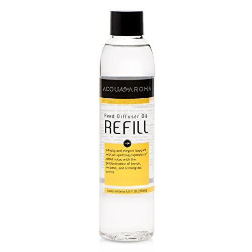 Acqua Aroma Lemon Verbena Reed Diffuser Oil Refill 6.8 FL OZ (200mL) Contains Essencial Oils.