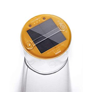 MPOWERD Luci - The Original Inflatable Solar Light, Clear Finish (New Features). Premium Pack