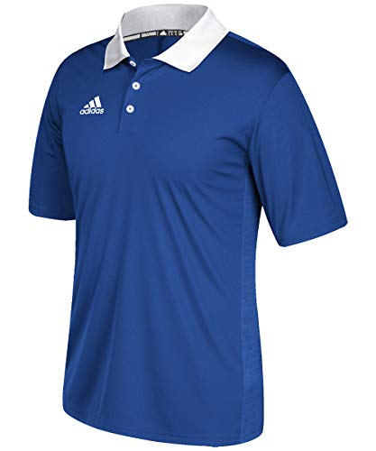 - adidas Game Built Coaches Polo - Collegiate Royal/White - Medium