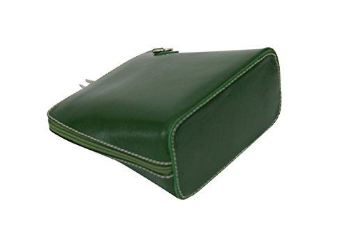 de pequeño Moda VL508 Verde Bolso bandolera AMBRA de hombro Bolsos cuero Mujer 04ROdxz