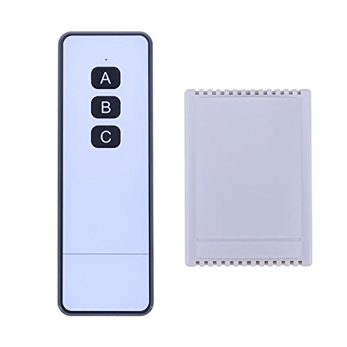 AMZVASO - 12V 2CH Relay Wireless Remote Control Switch LED Switch Transmitter 315MHZ Electric Door Remote Switch
