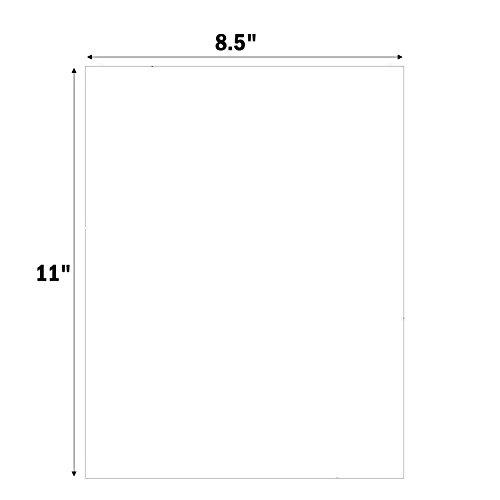 MFLABEL 100 Full-Sheet 8-1/2 x 11 Shipping Labels Address Labels (100 Labels)