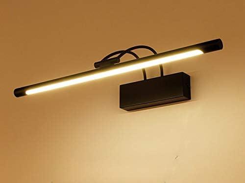 Noir LED Lampe pour Mirior Am/éricain Eclairage de Salle de Bain Applique Mural Rural Miroir-Avant Garde-robe Tableaux Luminaire Int/érieur Couloir H/ôtel Balcon Coifeuse IP44 Blanc Froid,75CM