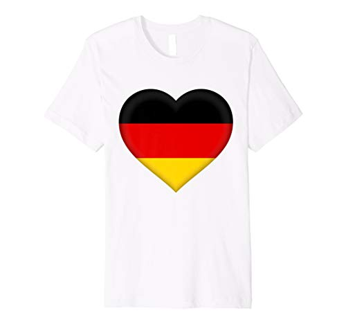 I Love Germany T-Shirt | German Flag Heart Outfit