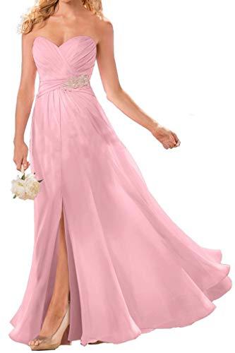 Schlitze Neuheit Abendkleider La Rosa mia Chiffon Partykleider Braut Anmutig Abschlussballkleider Beige n1Zpw