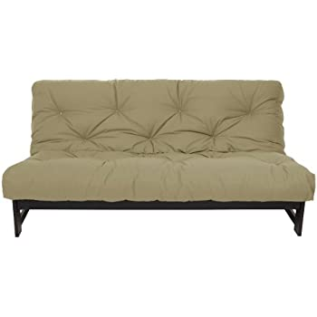 mozaic full size 8 inch futon mattress khaki amazon    springaire 8 inch loft inner spring futon mattress      rh   amazon