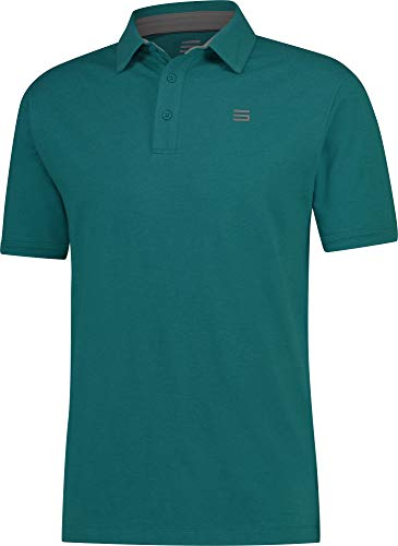 - Three Sixty Six Cotton Polo Teal Blue, S