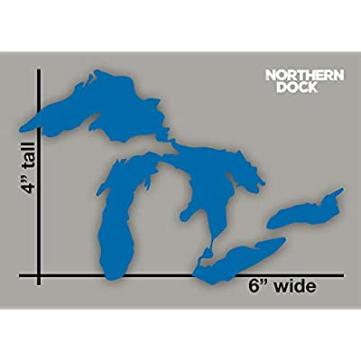 Northern Dock Great Lakes Michigan Sticker Car Window Decal Vinyl Bumper Sticker 6