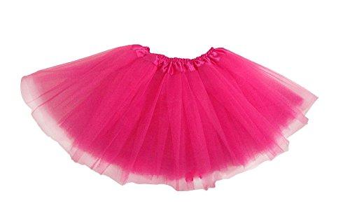 Leegoal(TM) Girl's Ballet Dress-Up Fairy Tutu Skirt, Hot Pink