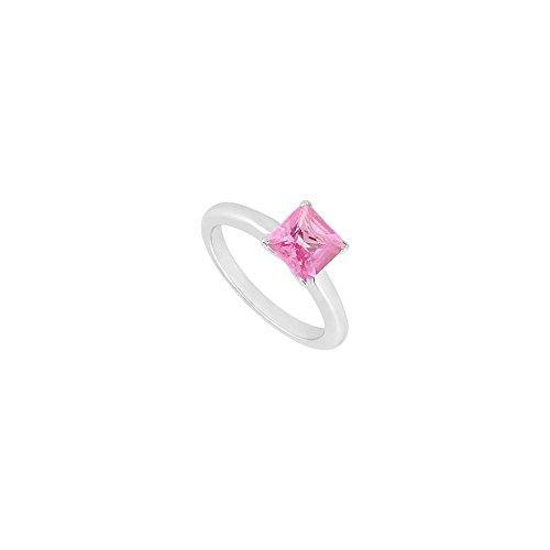 Pink Topaz Ring 14K White Gold 0.75 CT TGW
