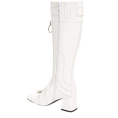 Jeffrey Campbell Peggy, White Knee-hi, Boot