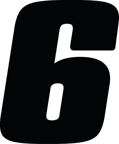 Dirt Digits DD53B-1 Black 5.5 High-Gloss Precision Die Cut Vinyl Number 1 3 Pack