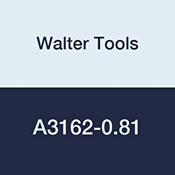 4 mm Length of Cut 4.05 mm Maximum Cut Depth 5.3mm/ Extension Length 25 mm Overall Length Walter Tools A3162-0.81 0.81 mm Solid Carbide Micro Drill Pack of 5