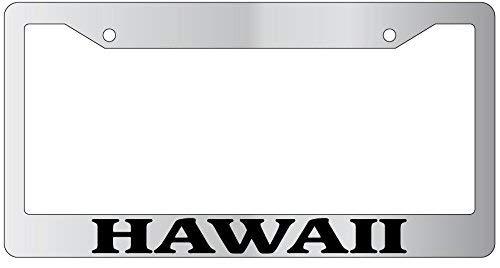 DIY Rine Hawaii Aluminum License Plate Frame Tag