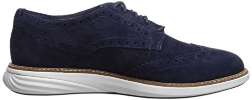 Cole Haan Women's GrandEvOlution Shortiwing Oxford Flat Marine Blue Suede Cheapest for sale pay with visa sale online cheap sale supply r4PkoTRb
