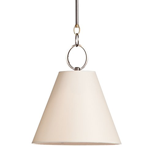 (Altamont 1-Light Pendant - Distressed Bronze Finish with Off White Parchment Shade)