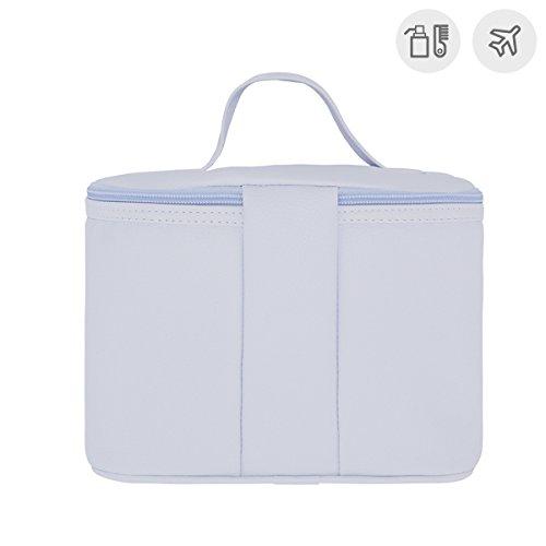 Cambrass Swarovski - Bolso neceser mini, 19 x 24 x 17 cm, color celeste Celeste