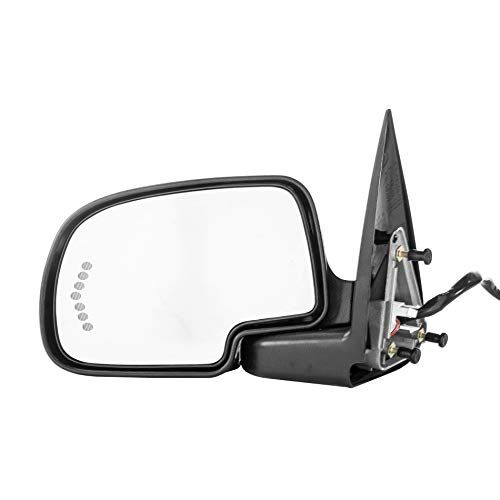 Left Driver Side Door Mirror Heated Power-Folding for Chevy Silverado Suburban Tahoe Avalanche GMC Sierra 1500 2500 3500 Yukon XL 2000 2001 2002 2003 2004 2005 2006 2007 GM1320373 - Check Fitment List ()