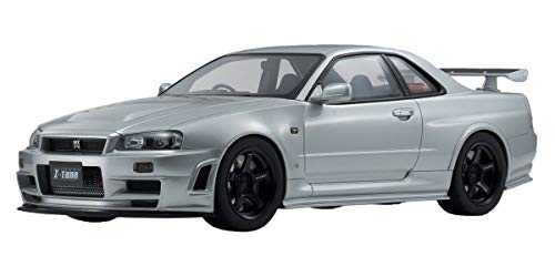 Nissan Skyline GT-R R34 Z-Tune Nismo Silver Limited Edition to 700 Pieces Worldwide 1/12 Model Car by Kyosho KSR12005S ()