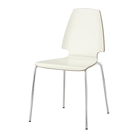 Ikea &apos Silla apilable vilmar Silla con Estructura de Acero ...