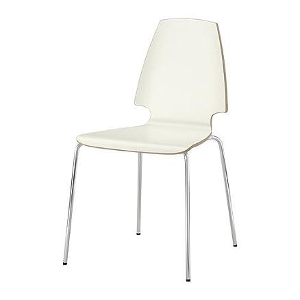 IKEA VILMAR-Sedia, colore: bianco/cromato: Amazon.it: Casa e cucina