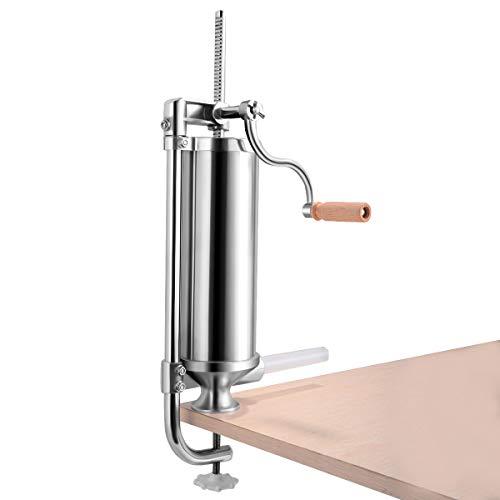 GOFLAME 3L Vertical Sausage Stuffer Maker for Home Resturant Commercial Stainless Steel Maker Meat Filler Kit