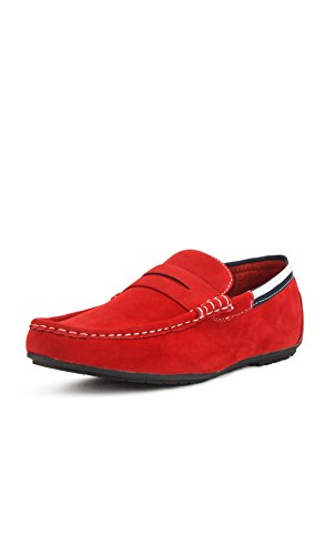Reservoir Shoes Mocassins à Bout carré Homme Perm Rouge D4vyO