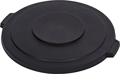 Carlisle 34103303 Bronco Round Waste Container Lid, 32  gal, Black Carlisle Lid