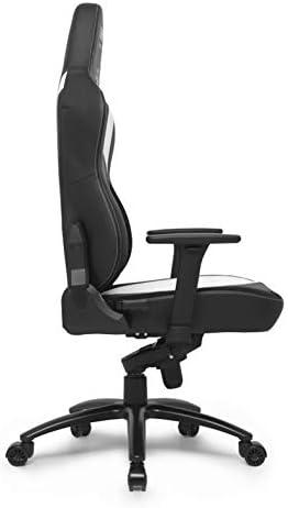 E-Sport L33T Chaise de Gaming | Siège Extra Large HQ Chaise de Bureau Ergonomique E-Sport PC avec Support Lombaire mécanique, revêtement en Cuir, Chaise de Bureau réglable