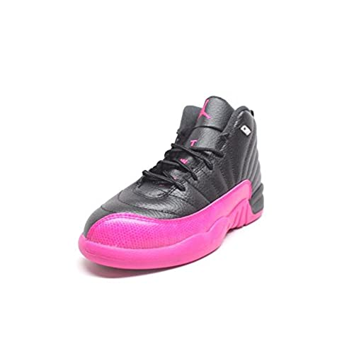 ae2cd75dc3bf Nike Jordan Retro 12 P.S Little Kids Youth Black Deadly Pink 510816-026 (2