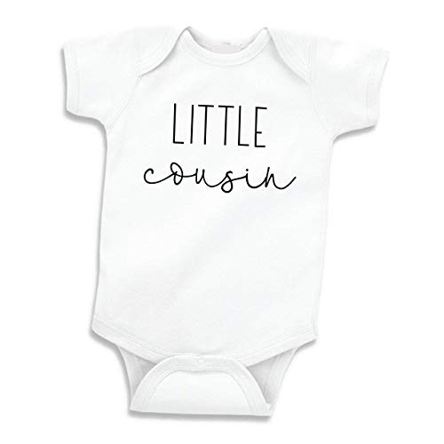 Pregnancy Announcement to Family, Little Cousin Gift (0-3 Months) Black