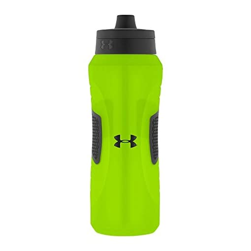 Under Armour Undeniable Squeeze Bottle with Quick Shot Lid, Hyper Green, 32 Ounce