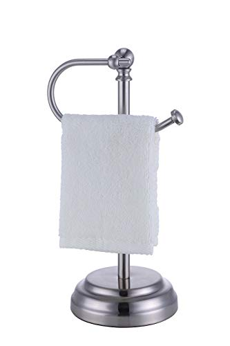 SunnyPoint Heavy Weight Classic Decorative Metal Fingertip Hand Towel Holder Stand for Bathroom, Kitchen, Vanity and…